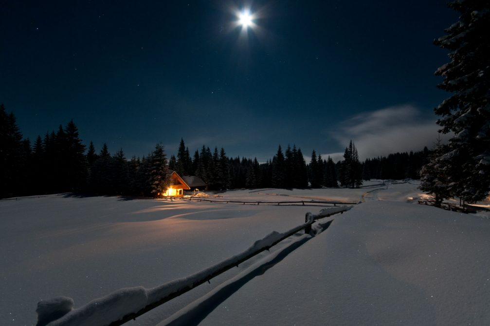 The Goreljek alpine meadow at night