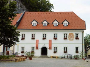 Exterior of Old Parish House in Bled, Slovenia