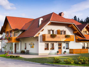 Exterior of Penzion Kaps in Bled, Slovenia