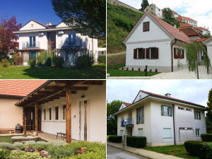 Collage of apartments in Ptuj, Slovenia