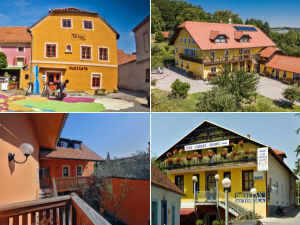Collage of bed and breakfasts in Ptuj, Slovenia