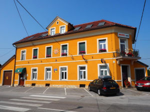 Exterior of Hostel Sonce in Ptuj Slovenia