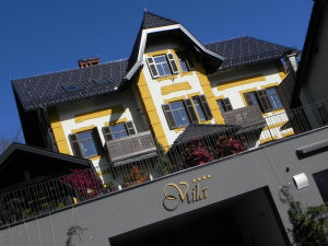 Exterior of Vila Mila in Bled, Slovenia