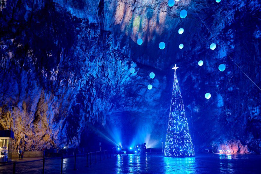 the Living Nativity Scenes in Postojna Cave near Postojna town, Slovenia